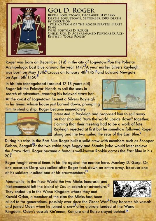 Gol D. Roger's Biography 1