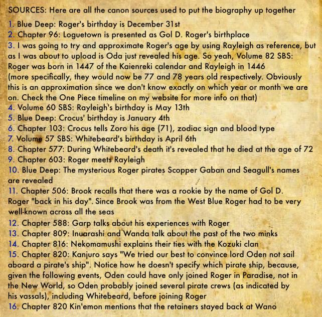 Gol D. Roger's Biography 2