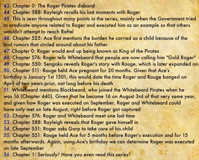 Gol D. Roger's Biography 9