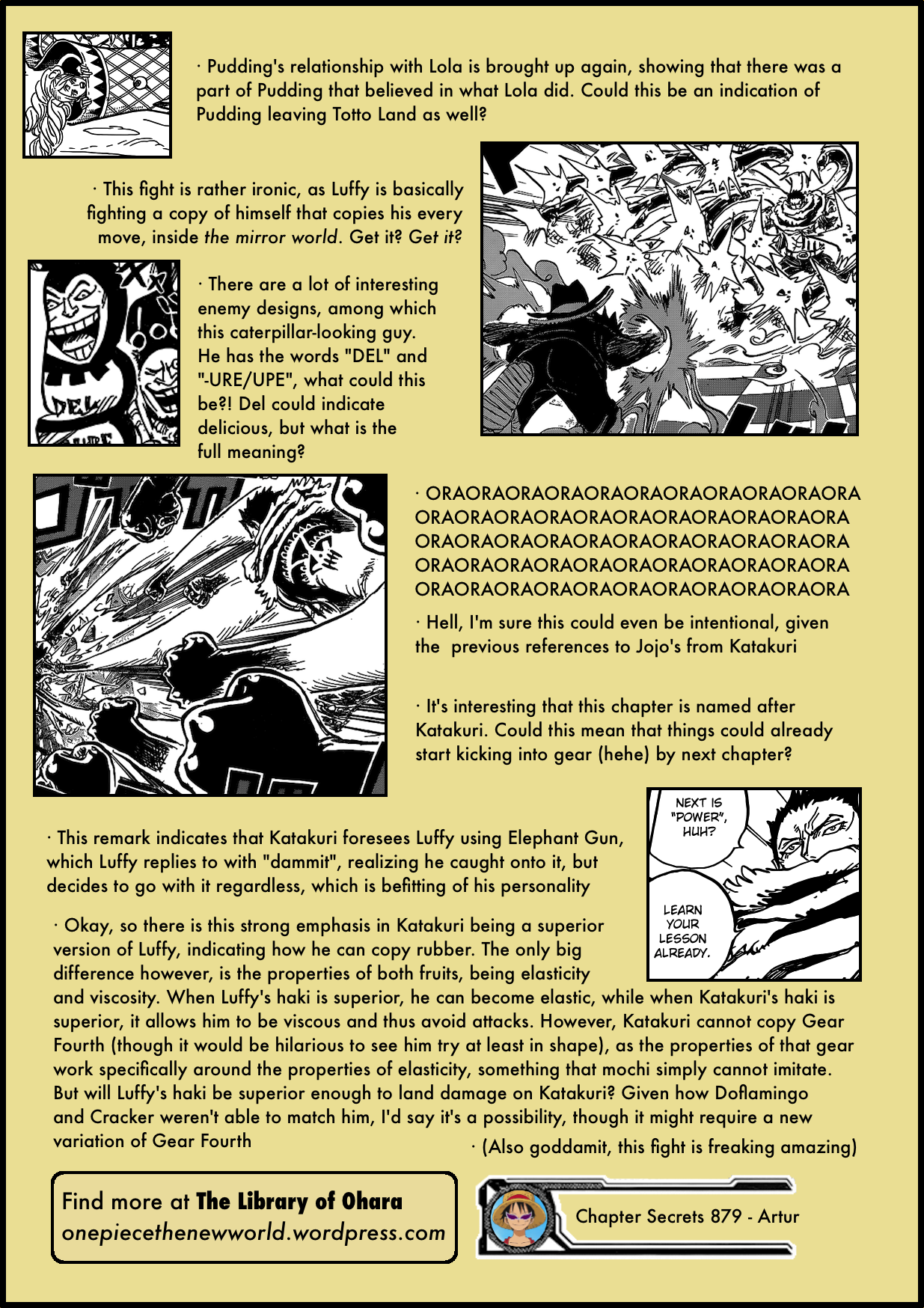 "Chapter 879: ""One of Big Mom's Sweet Commnaders, Katakuri"" 879-4"