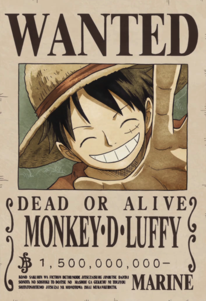Monkey D. Luffy bounty poster