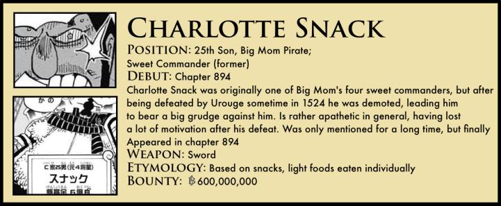 Charlotte Snack One Piece