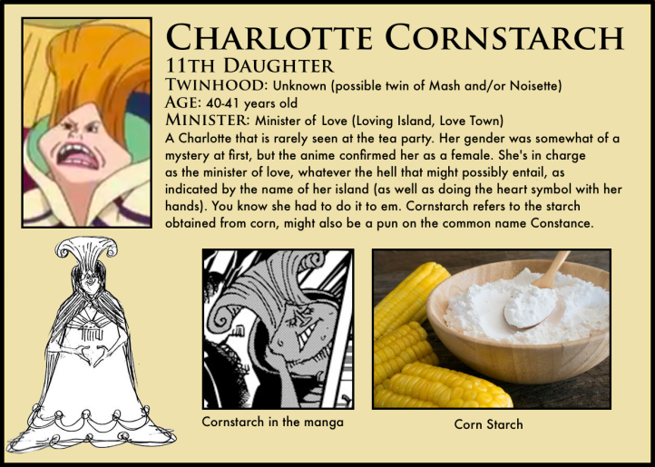 One Piece Charllote Cornstarch