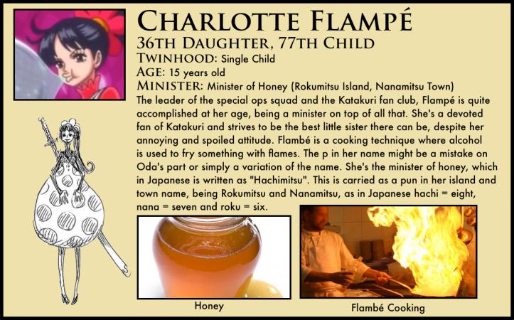 one piece charlotte flampé