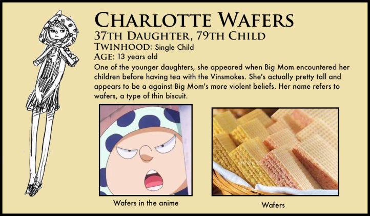 one piece charlotte wafers