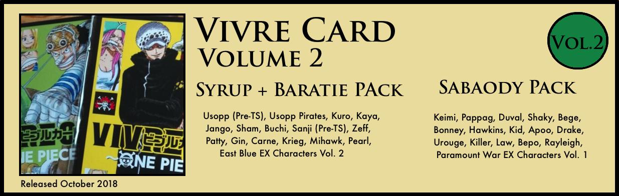 Vivre Card Volume 2 Syrup Baratie Sabaody