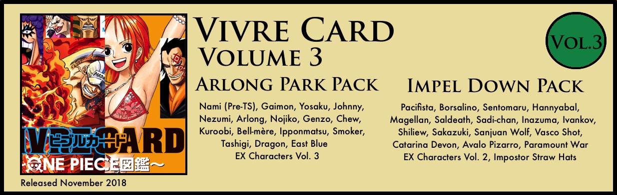 Vivre Card Volume 3 Arlong Park Impel Down