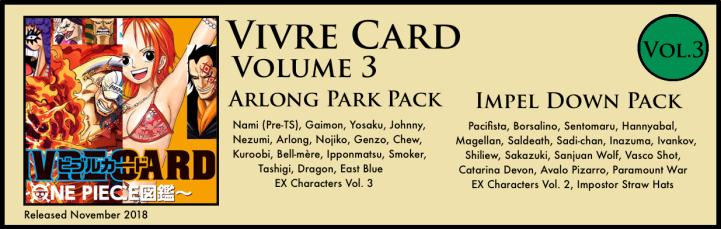 Vivre Card Volume 3 Arlong Park Impel Down