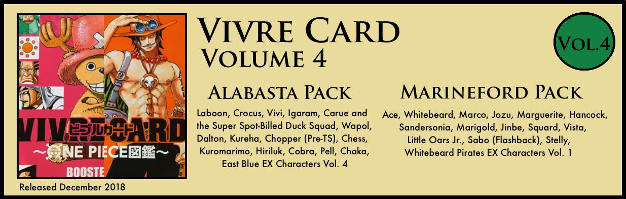 Vivre Card Volume 4 Alabasta Marineford