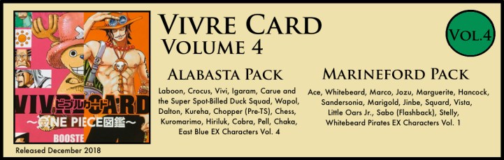Vivre Card Volume 4 Alabasta Marineford