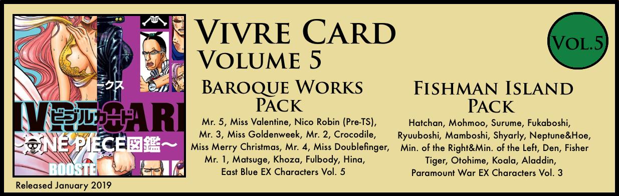 Vivre Card Volume 5 Baroque Works Fishman Island