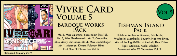 Vivre Card Volume 5 Baroque Works Fishman Island