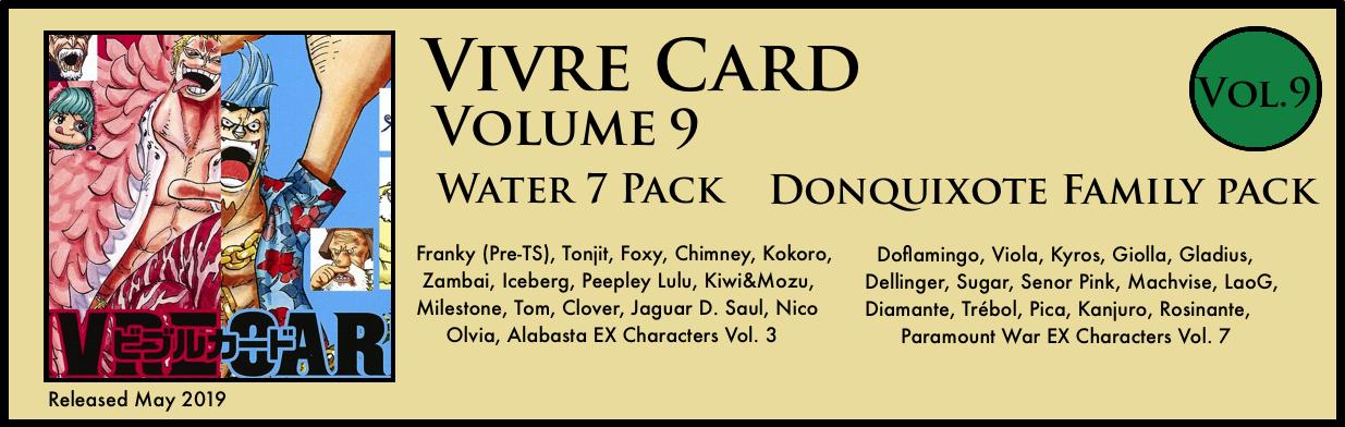 Vivre Card Volume 9 Water 7 Donquixote Family