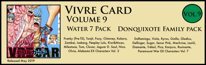 Vivre Card Volume 9 Water 7 Donquixote Family