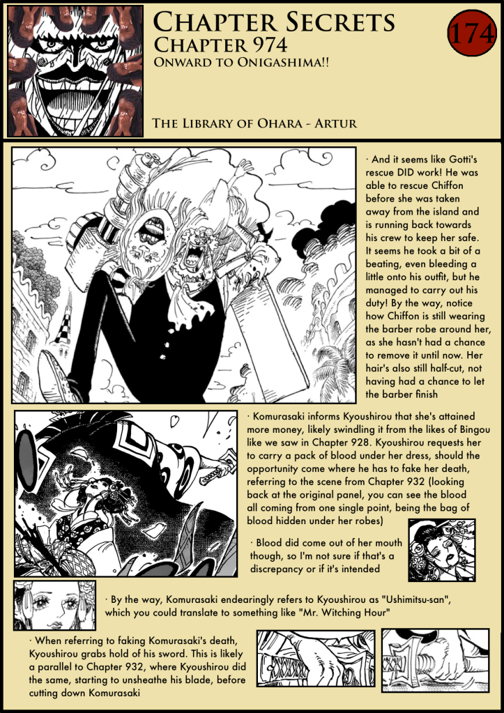 One Piece Chapter 974 analysis 1
