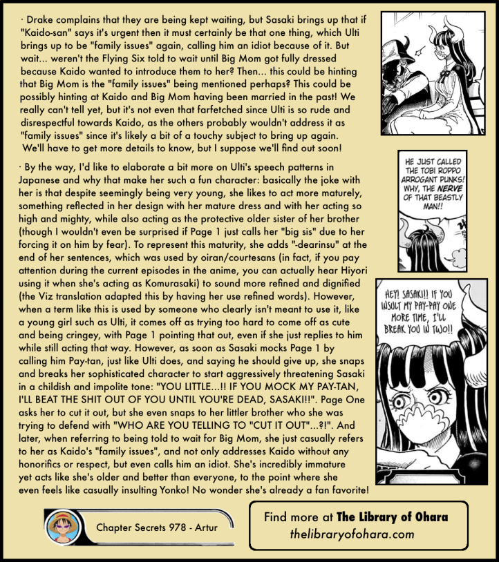 One Piece Chapter 978 analysis 12