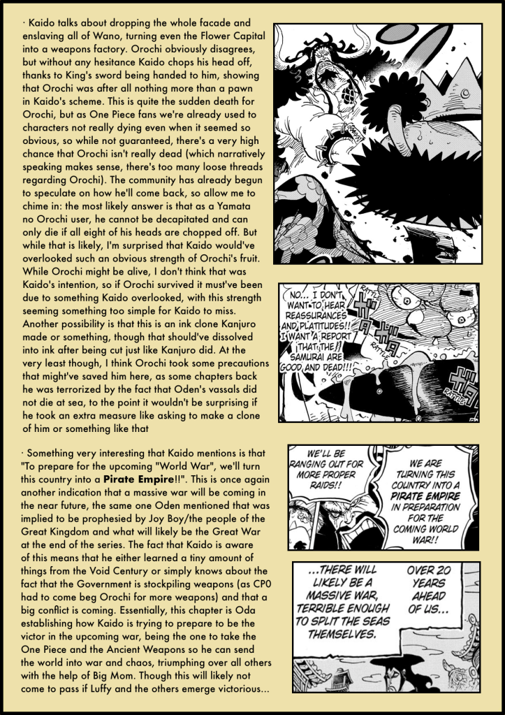 One Piece Chapter 985 in-depth analysis 6
