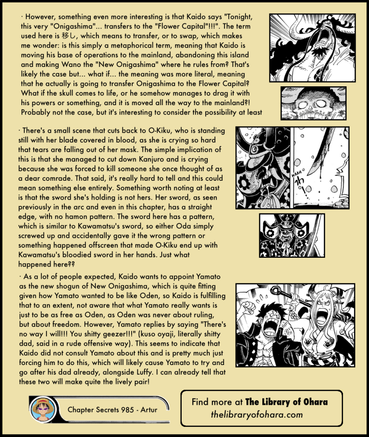 One Piece Chapter 985 in-depth analysis 7