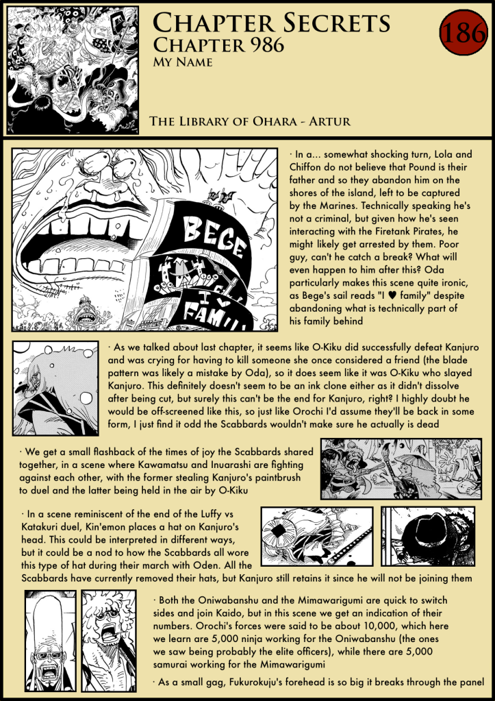 One Piece Chapter 986 in-depth analysis 1