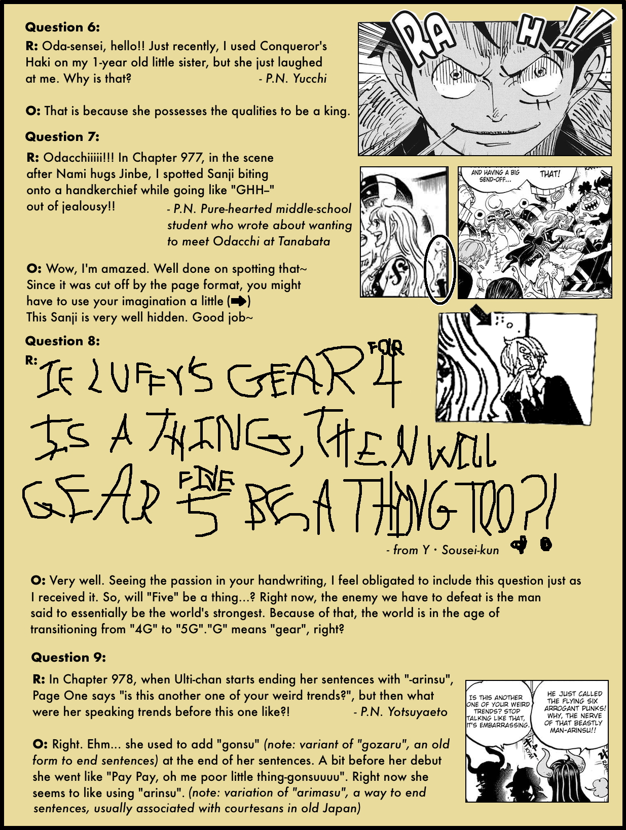 Volume 98 SBS Question Corner – The Library of Ohara